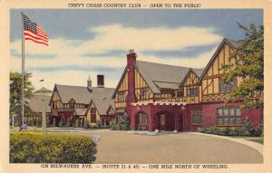 Wheeling Illinois Chevy Chase Country Club Antique Postcard K33875