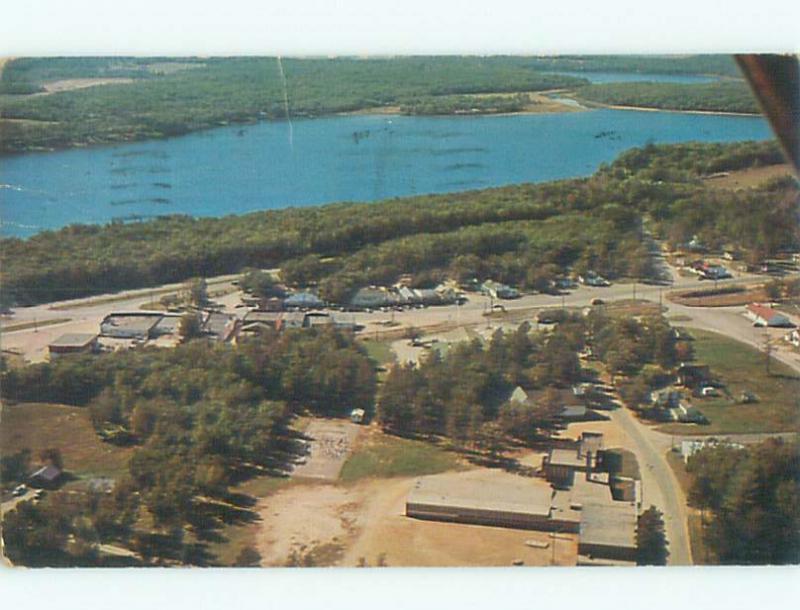 Pre-1980 AERIAL VIEW OF TOWN Misswa Minnesota MN n3019