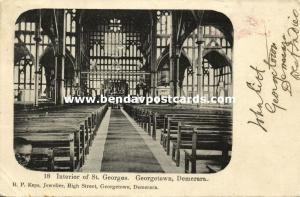british guiana, DEMERARA GEORGETOWN, Interior of St. Georges (1906)