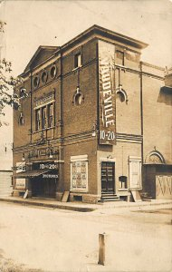 Framingham MA The Gorman Vaudeville  Theatre in 1912 Real Photo Postcard