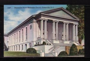 South Carolina colour PC Buncombe St Methodist Church Greenville, unused