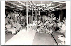 1955 Missouri RPPC Real Photo Postcard 64th Annual McCullah-Wesson Reunion