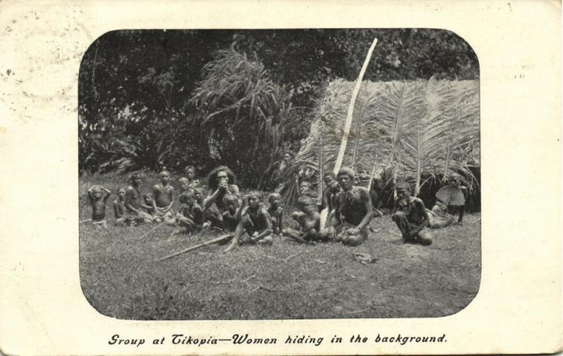 Southwestern Pacific, TIKOPIA, Group of Natives (1911) Melanesian Mission Series