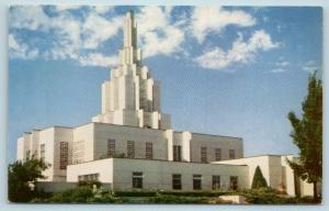 Postcard ID Idaho Falls L.D.S. Temple Latter Day Saints