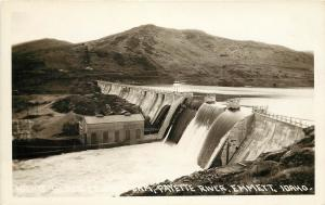 c1930 W.Andrews RPPC Postcard Black Canyon Dam, Payette River, Emmett ID Gem Co.