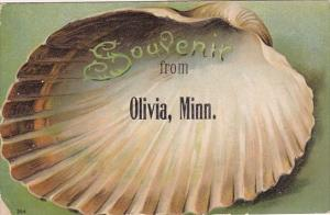 Minnesota Clam Shell Souvenir From Olivia 1911