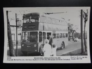 BUS: BRADFORD TROLLEYBUS No.844 Pamlin Print Postcard No.M2482
