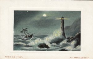 LIGHTHOUSE , 00-10s ; Artist Henry Whitroy ; After the Storm