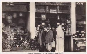 RP, The Fruit & Vegetable Market, Casablanca, Morocco, Africa, 1920-1940s