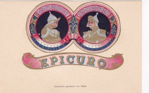 Tobacco Advertising Art , Soldiers, Cigar Label Name: Epicuro, 1898-1907