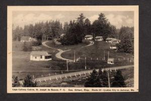 PQ Cape Callway Cabins St Joseph de Beauce Quebec Carte Postale Postcard