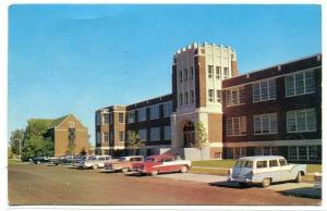 Montana State University Northern College Admin Cars Havre MT 1963 postcard
