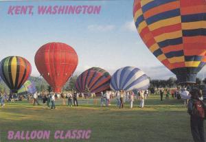Colorful multi-hued hot air balloons, International Balloon Classic, kent, Wa...
