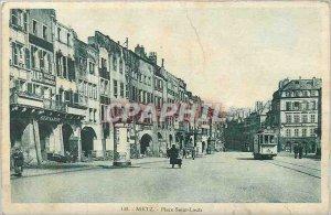 Old Postcard Metz Place Saint Louis Tramway