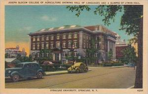 New York Syracuse Joseph Slocum College Of Agriulture Showing Hall Of Languag...