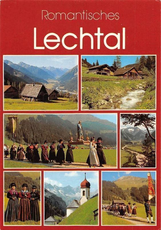 Romantisches Lechtal multiviews Kirche, Church Creek Forest Landscape