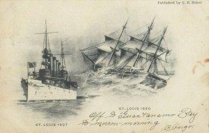 USS ST. LOUIS, 1907 & 1850