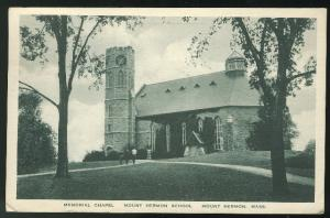 MA Memorial Chapel Mount Hermon School  Massachusetts 1942 Albertype Postcard