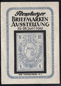 Germany Flensburg Philatelic Exposition With Expo Cancel 1947