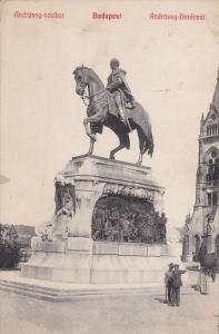 BUDAPEST, Hungary; Andrassy-szobor, Andrassy-Denkmal, 00-10s
