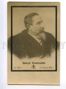 151404 SIEMIRADZKI Polish PAINTER in BLACK Vintage PHOTO PC