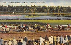 Hialeah Park, Miami FL USA Horse Racing Postcard Unused
