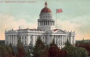 State Capitol, Sacramento, California, 1907 Postcard