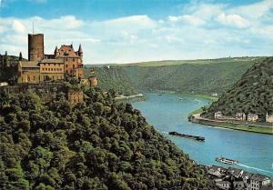 Rhein Burg Katz und Blick auf Loreley Castle River Boats