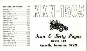 QSL Radio Card From Knoxville Tennessee KKN-1565