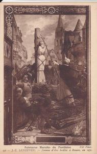 Peintures Murales Du Pantheon, Jeanne D'Arc, Brulee A Rouen En 1431, Seine Ma...