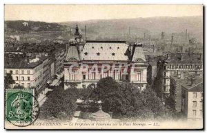 Saint Etienne - The Prefecture and Panorama Plaza Morengo - Old Postcard