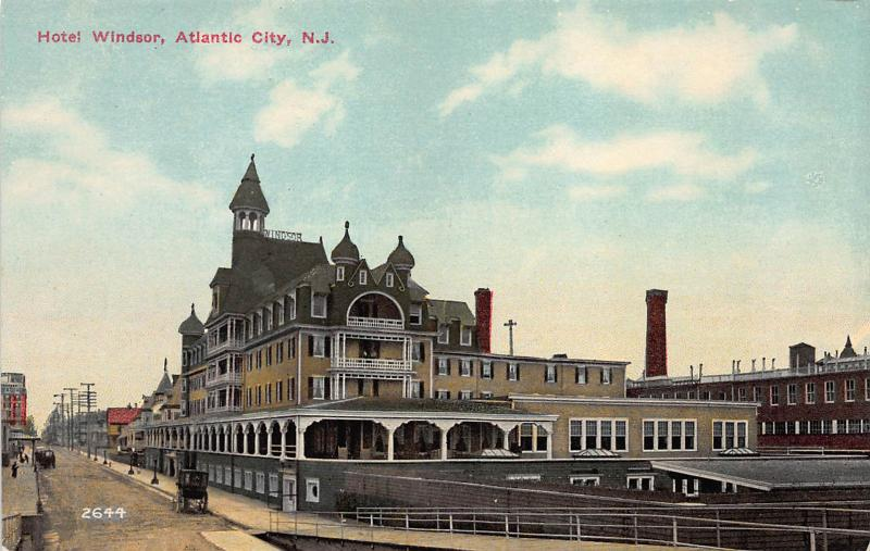 Hotel Windsor, Atlantic City, New Jersey, Early Postcard, Unused