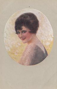 Female Head Portrait, 1900-10s