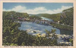 In The Blue Right Mountains On The Baltmore & Ohio Railroad Historic Harper's...