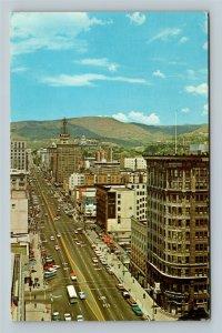 Salt Lake City UT, Main Street Stores, Chrome Utah Postcard