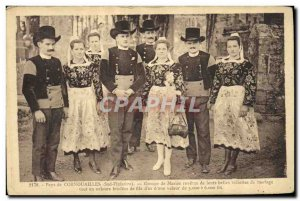 Old Postcard Folklore countries Cornish Group Maries Wedding