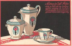 Advertising Postcard - Old Vintage Antique  Service a Café Potin