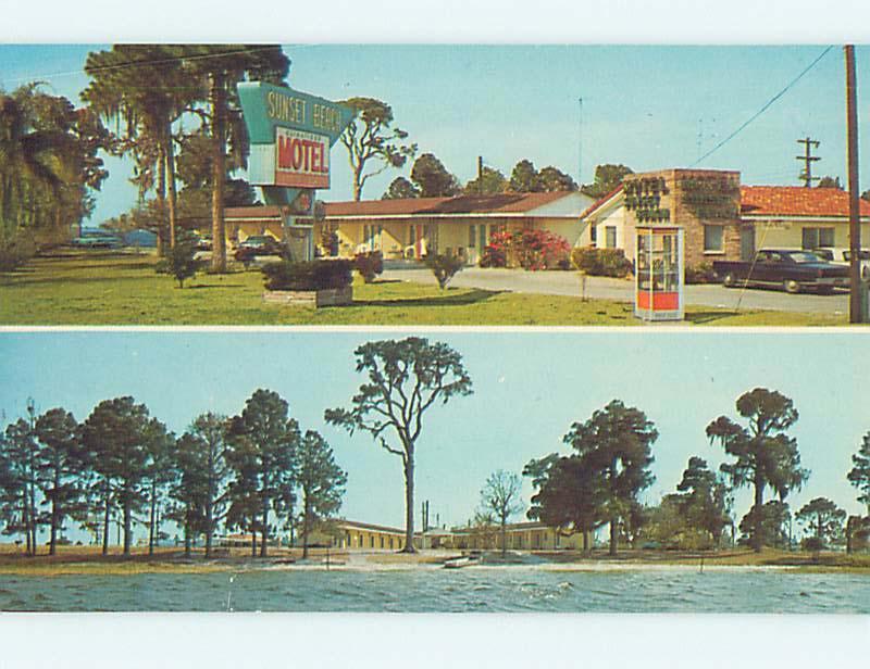Unused Pre 1980 Old Cars Sunset Beach Motel Sebring Florida Fl M0842
