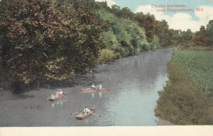 HAGERSTOWN, Maryland, 1900-10s; On the Antietam, Rowboats