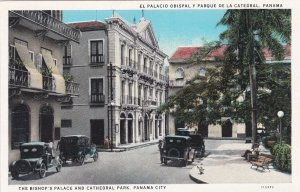 Bishop's Palace and Cathedral Park Street Scene Panama City Panama sk168