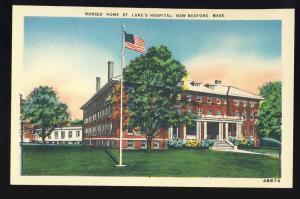 New Bedford, Massachusetts/Mass/MA Postcard,Nurses' Home ,St Luke's Hospital