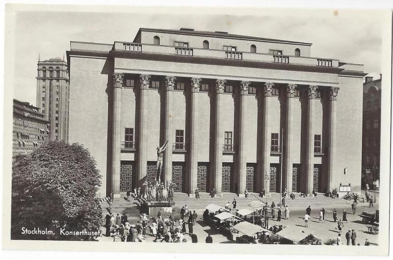 RP Sweden Stockholm Konserthuset Concert Hall Real Photo