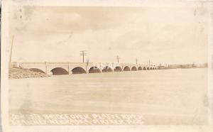 C95/ Kearney Nebraska Ne Real Photo RPPC Postcard c20s Platte River Bridge 2