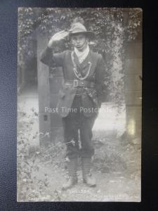 Chelsea Boy Scout Salutes c1910 RP Postcard by Frank Wells 190 EBURY ST London