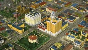 MN - Rochester, Bird's Eye View of Civic Center