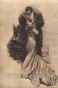 The Kiss (Russian) Artist Signed Harrison Fisher Unused crease right bottom c...