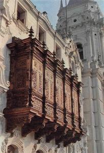 Peru Balcon del Palacio Arzobispal, Lima Balcony