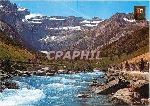 Modern Postcard Gavarnie Hautes Pyrenees (altitude 1357 m) the Gave and Cirque