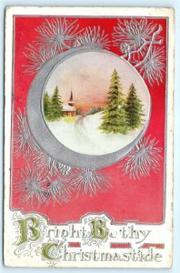 Postcard Christmas Bright Be They Christmastide 1909 A04