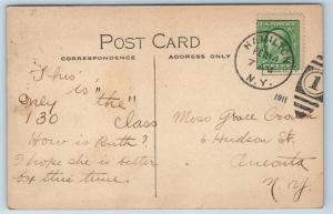 Postcard NY Hamilton Colgate University Class Photo Class of 1914 K20